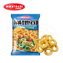 Squid flavoured ring shape puff snack