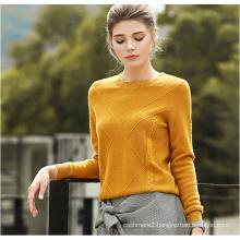 Women′s Round Neck Cashmere Sweater 16brdw004
