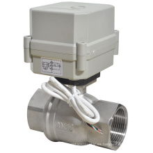 Válvula de bola de cierre eléctrico de 1-1 / 4 pulgadas con voltaje de 230V