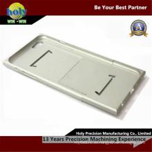 Piezas de aluminio anodizadas plata del CNC de Shell de las piezas de aluminio del CNC