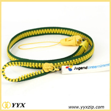 Custom plastic zipper lanyards for key holder