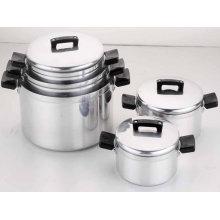 Restaurant / Home 10 Piece Aluminum Cookware Set, Cooking Pot Sets For Gas Cooker