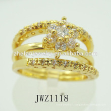 Unique deux dans un dernier anneau d'or conçoit de nouveaux anneaux de doigt d'or de conception pour des femmes