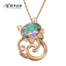 Xuping Fashion luxe ronde CZ cristal bijoux pendentif Warovski (32582)