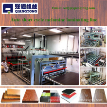 Hydraulic laminated short cycle hot press machine for furniture board