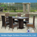 Cheap Outdoor Rattan Dining Table and Chairs