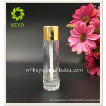 Botella cosmética del corrector de cristal del embalaje del perfume vacío coloreado transparente de lujo 10ml 12ml