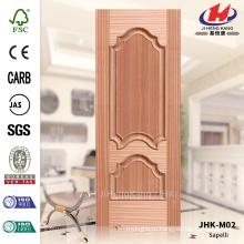 JHK-M02 Экономичная копания Evagination Декоративная изогнутая линия Туркменистан Natural Sapelli МДФ Литой штормовой двери