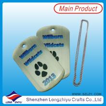 Etiquetas de perro calientes de encargo de la venta del logotipo con Epoxy de pata