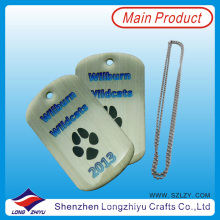 Custom Logo Hot Sale Dog Tags with Epoxy of Paw