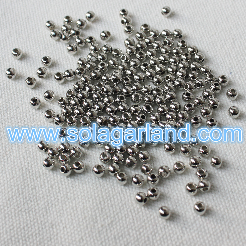 4Mm Silver Beads
