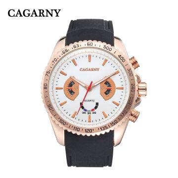 6827multi-функция наручные часы корпус 48мм СС Пряжка силиконовый ремешок