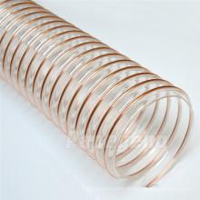 Manguera de conducto flexible reforzada transparente de poliuretano de gran diámetro