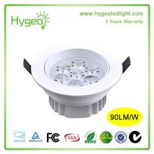 New Designed 7W led downlight Анти-туманный светильник Супер яркий Энергосберегающий светильник AC 85-265V