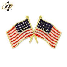 Pinos de lapela da bandeira americana do esmalte duro feito sob encomenda da liga de zinco para a lembrança