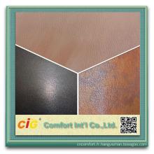Tissu de siège de voiture en cuir de haute qualité de tapisserie d'ameublement automatique