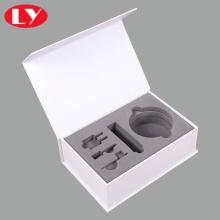 Caja de papel blanco de lujo para productos industriales