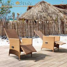 Wicker Outdoor Furniture Adjustable Leisure Chair