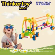 Plastik Intellektuelle & pädagogische Spielzeug Bausteine