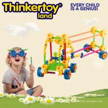 Plástico Brinquedos Inteligentes e Educacionais Blocos de Construção
