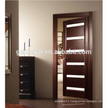 CE Modern glass bathroom MDF Wood door