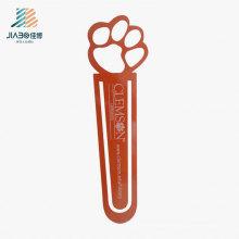 Personnaliser le signet en métal rouge de pied de cuivre de logo pour le cadeau en gros