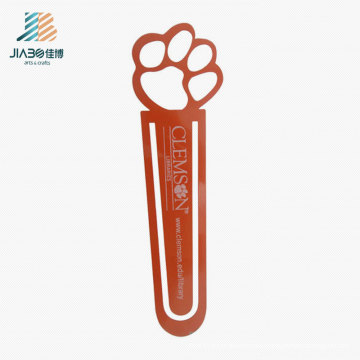 Customize Logo Red Copper Foot Metal Bookmark for Wholesale Gift
