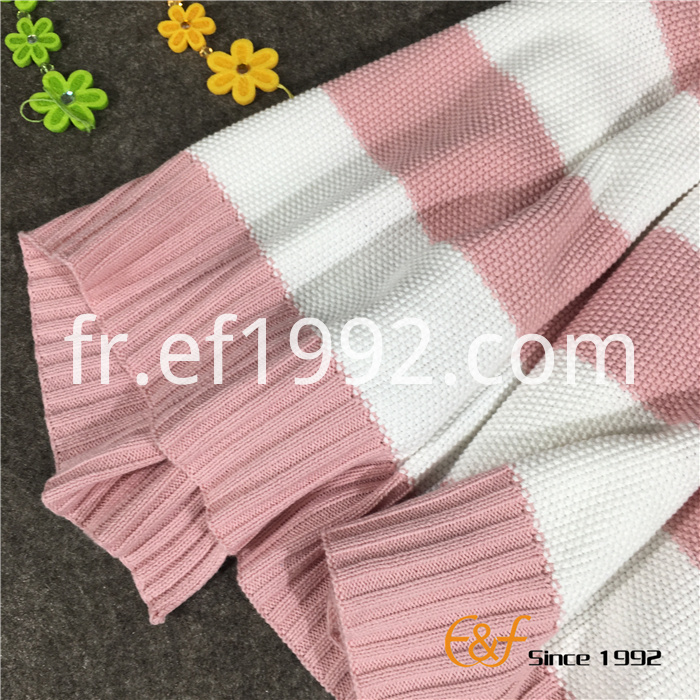 stripe knitted blanket