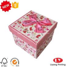 Caixa de embalagem de presente de cartão com tampa