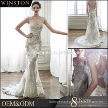 Alta qualidade fora as mulheres unidas vestem couture pesado vestido de noiva com contas