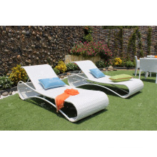 Outdoor Poly PE Rattan Sun Loungers