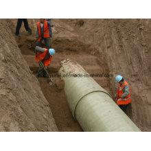 Tubería de arena FRP o GRP para agua o industrias químicas