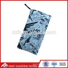 Microfibra tecido pequeno saco para óculos de sol e óculos