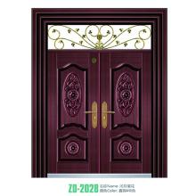 Porte principale de la porte principale de conception cuivre cuivre porte