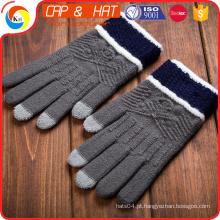 Hight qualidade newgift tela de toque luva personalizado malha inverno luva de tela de toque