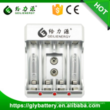 GLE-912 AAA AA 9V Battery Charger For NIMH NICD Rechargeable Battery
