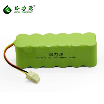 Ciclo de vida largo de alta potencia recargable 3500 mah 14,4 voltios sc nimh paquete de batería batería del aspirador