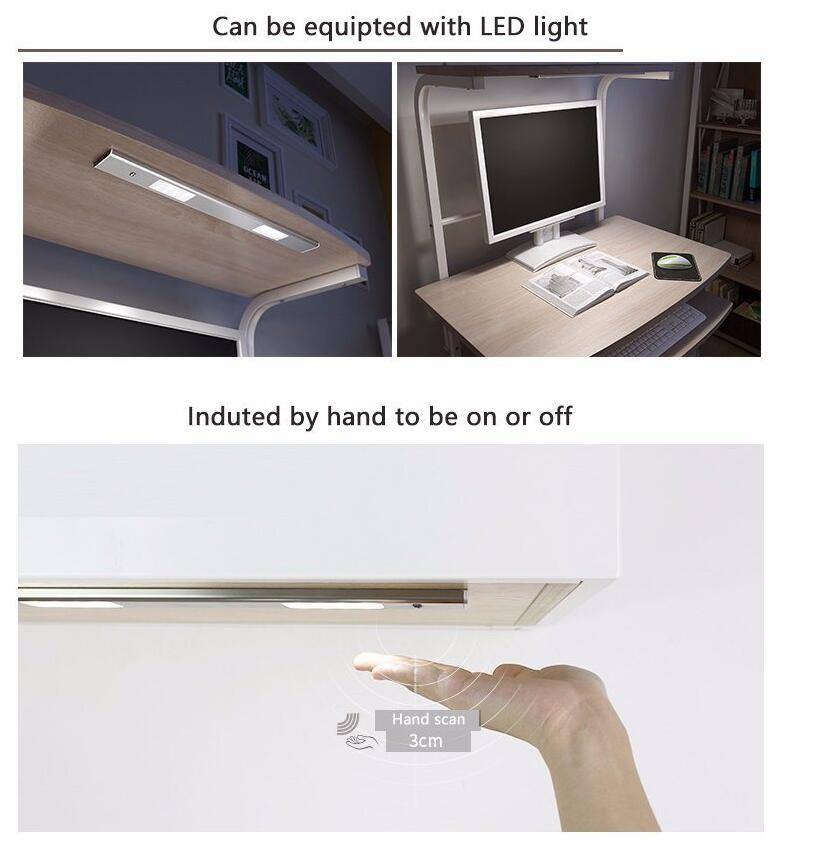 light of computer desk for student