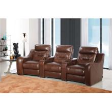 Sofá de salón con sofá moderno de cuero genuino (442)