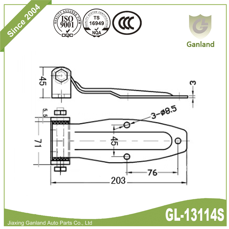 Pin removeable hinge-gl13114s