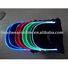 Bonés de beisebol com luz LED e logo bordado