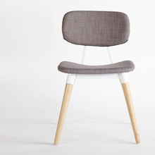 Home Furniture Fabric Dining Chairs with Wood Legs