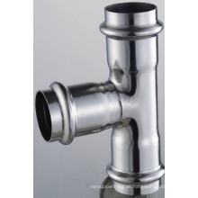 66,7 * 28 * 66,7 En 316L Rohrverschraubungen T-Kupplung Redution 3 X Presse