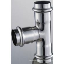 54 * 18 * 54 En 316L Encaixes de Tubo Redução de Acoplamento 3 X Pressione