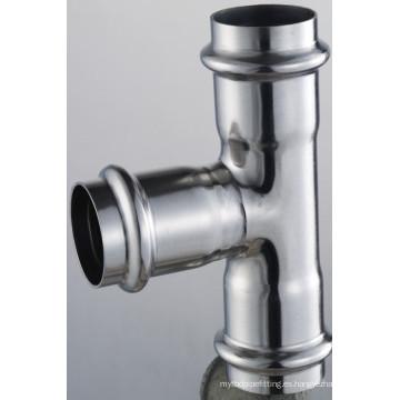 54 * 35 * 54 En 316L Conexiones de tubería Reductor de acoplamiento en T 3 X Prensa