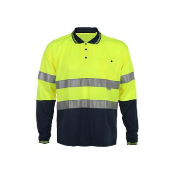 Camisola de segurança reflectora de alta visibilidade de manga comprida