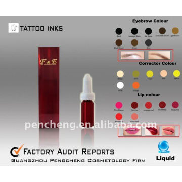 Permanent Make-up Liquid Ink Pigment für Tattoo Augenbraue Versorgung
