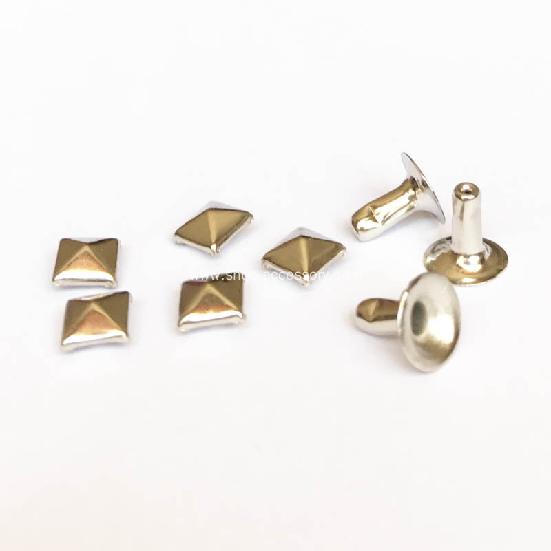Nickle Plated Pyramid Rivets 7x7mm