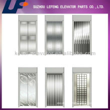Hairline Stainless Steel/Mirro/Etching Elevator Door