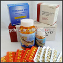 GMP Certificated, Nutritional Supplement, Vitamin Supplement, Vitamin Ad Soft Capsules